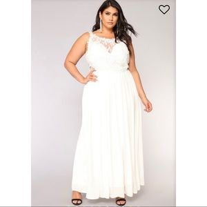 Fashion Nova Delicate Lace Dress - White